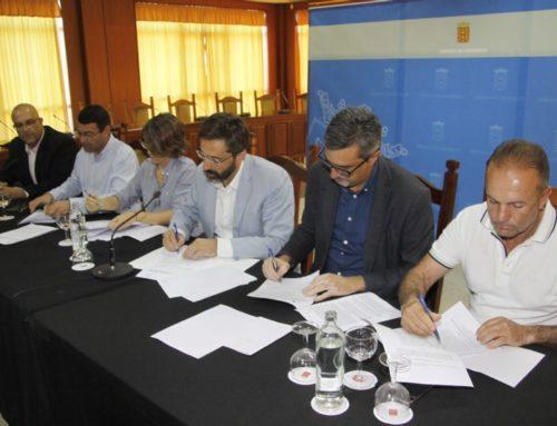 Arrecife, Teguise, Haría y Tinajo delegan  en el Cabildo para la puesta en funcionamiento de la Red Tributaria Lanzarote