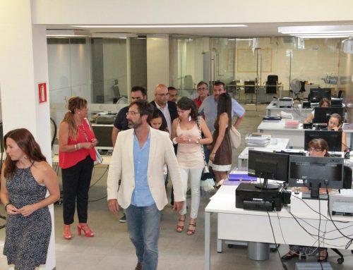 Visita institucional a los servicios centrales de la Red Tributaria Lanzarote