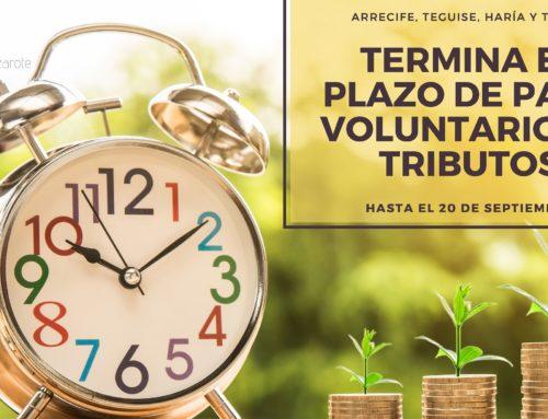 FIN DEL PERIODO VOLUNTARIO DE PAGO DE RECIBOS: 20 DE SEPTIEMBRE DE 2019